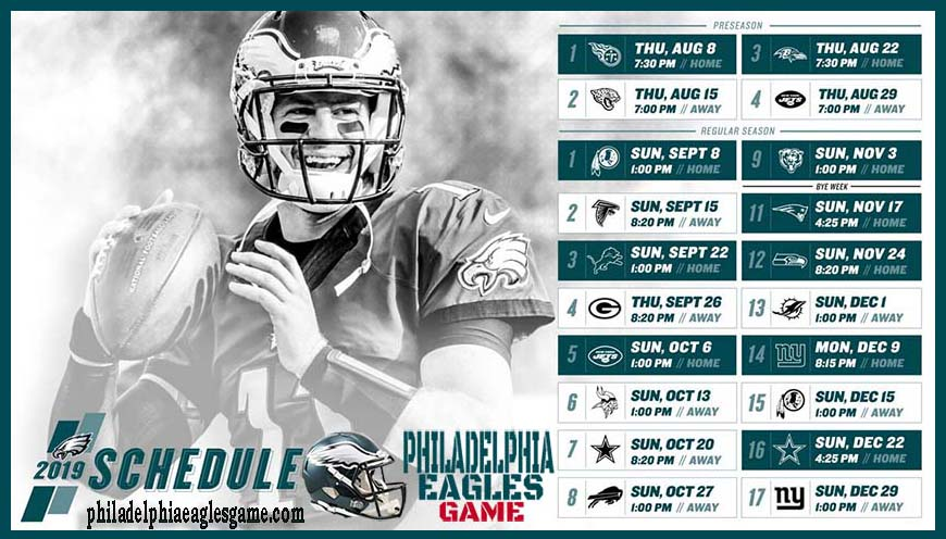 Philadelphia Eagles Game | Live Stream, TV schedule, Eagles Game, Football, Today/Tonight, How to watch, Free, Online, 2019